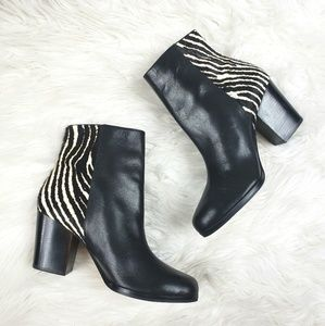 Michael kors calf hair & leather ankle booties